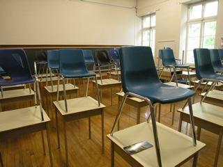 A classroom at Villa-Maria high