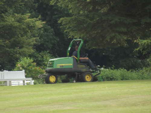 Kingston Lacy Estate - gardens - lawn mower