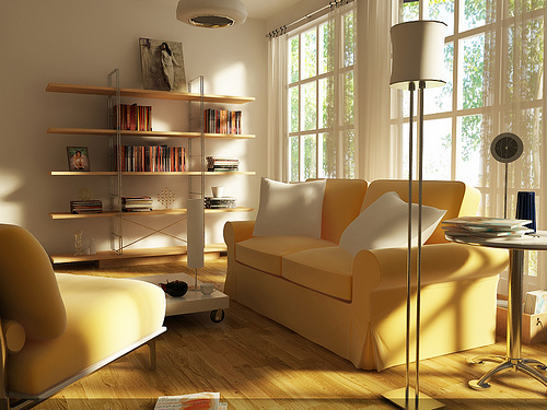 living room at morning