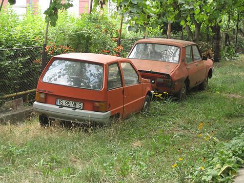 Broken down cars