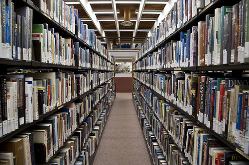 Toronto: book stacks at Toronto Reference Library