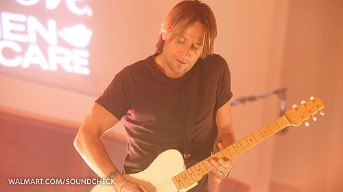 Keith Urban on Walmart Soundcheck