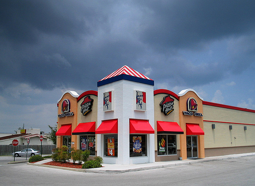 Triple fast food restaurant