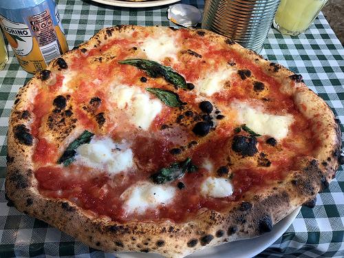 Buffalo mozzarella margherita at Pizza Pilgrims