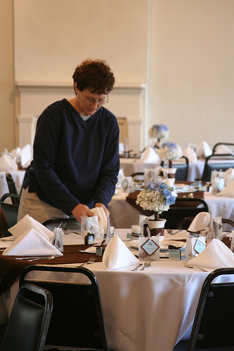 Mary Arranges Napkins